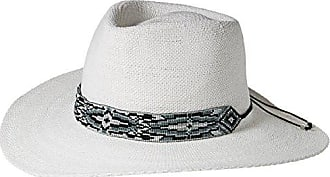 ále by Alessandra Womens Shelby Woven Toyo Sunhat with Beaded Trim, White, One Size