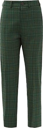 Vivienne Westwood Tartan-check Wool-twill Suit Trousers - Womens - Green
