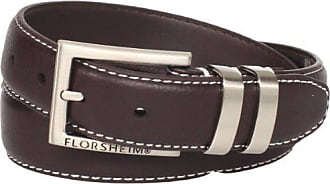 Florsheim Mens Full Grain Leather With Contrast Stitch 32MM, Brown, 44