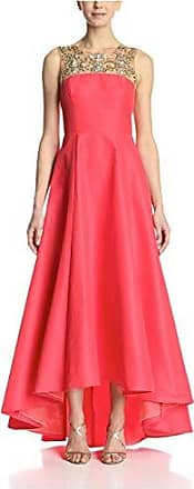 Marchesa Womens Embellished Sleeveless Gown, Coral, 4