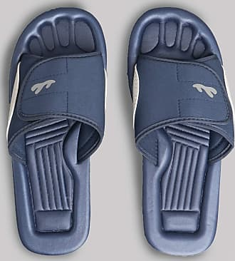 Surfer Velcro Fastening Beach//Shower Mule Sandal In Navy//Grey 11