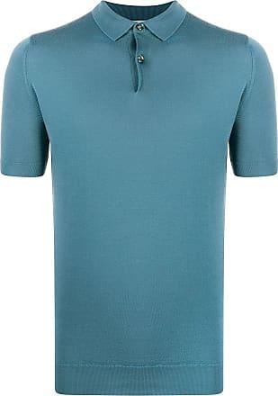 John Smedley Camisa polo de tricô - Azul