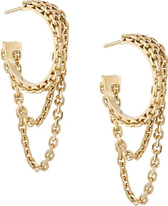 Wouters & Hendrix chain hoop earrings - GOLD