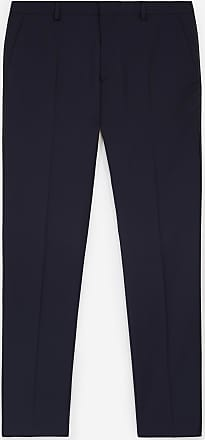 The Kooples Patterned navy blue dinner trousers - MEN
