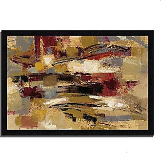 Tangletown Fine Art Ruins Framed Art, Taupe/Maroon/Burgundy/Green