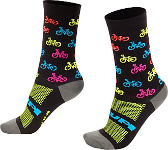 Hupi Meia Hupi Bike Colors - Lt para pés menores 34-38, Cor: Preto, Tamanho: Lt (34-38)