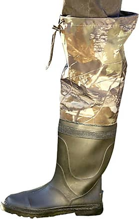 YOUJIA Mens Camouflage Wellington Drawstring Knee Length Rain Boots Wellies Worker Garden Shoes (Camouflage, CN 45)