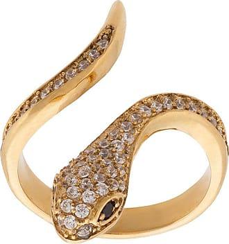 Nialaya Skyfall snake ring - Metallic