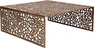 INSIDEART Couchtisch Design Inside Art Aluminium SPLENDEUR   Kupferfarben