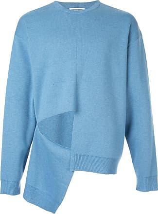 Wooyoungmi Blusa de moletom com detalhe de recorte - Azul