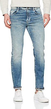 Selected Homme Mens Shnslim-Leon 6111 Mid Jeans STS Slim, Blue (Medium Blue Denim Medium Blue Denim), W33/L34 (Size: 33)