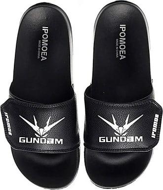 Cosstars Gundam Unisex Anime Slippers Open Toe Sandals Adjustable Hook and Loop 7 / Black 280 MM