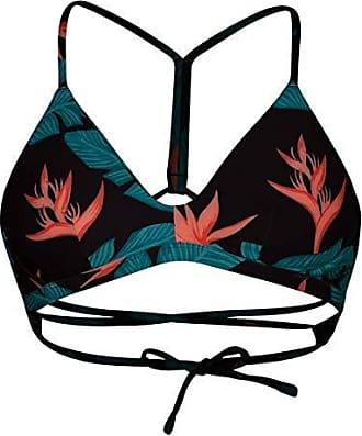 7443d44f48 Hurley Womens Apparel Womens Quick Dry Compression Printed Adjustable Bikini  Top