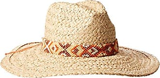 ále by Alessandra Womens Indio Raffia Braid Hat With Hand Woven Trim and Rated UPF 50+, Natural, One Size
