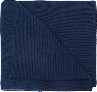 Moncler Logo-patched Scarf Mens Navy Blue