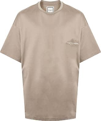 Wooyoungmi Camiseta oversized com estampa gráfica - Marrom