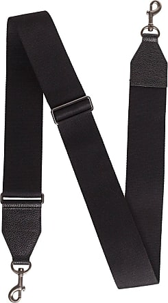 MQaccessories Adjustable Shoulder Strap in Cervocalf Leather with Graphite Colored Hardware