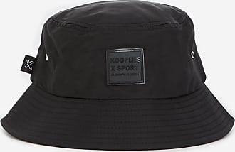 The Kooples Black bucket hat with contrasting logo patch - MEN