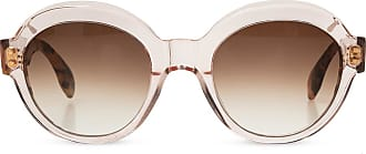 Emmanuelle Khanh Sunglasses With Logo Womens Pink