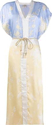 Forte_Forte Vestido com estampa floral - Neutro