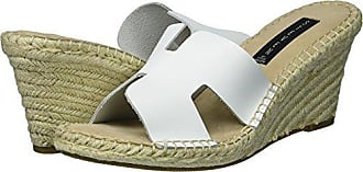 a82bbbc2146 Steven by Steve Madden Womens Eryk Wedge Sandal White Leather 7.5 M US