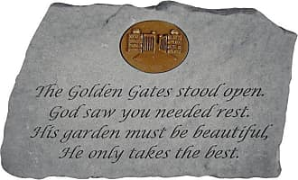 Kay Berry The Golden Gates Stood Open Memorial Stone With Personalized Insert - 11265