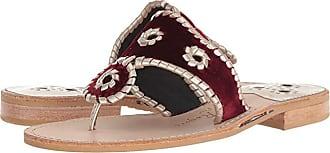 Jack Rogers Jacks Velvet (Burgundy) Womens Shoes