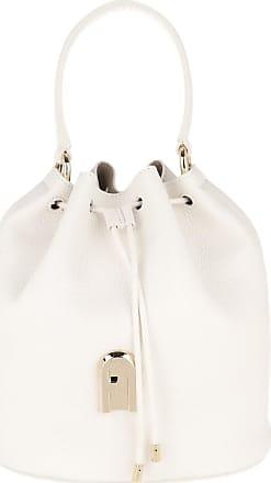 Furla Bucket Bags - Sleek Small Drawstring Talco Toni Cognac - white - Bucket Bags for ladies