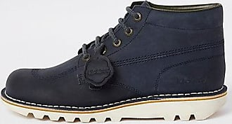Kickers Mens Kickers navy leather lace-up boots