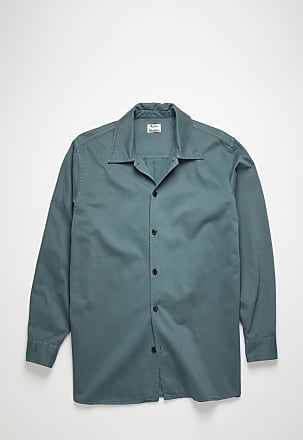 Acne Studios FN-MN-SHIR000191 Dusty green Boxy-fit cotton twill shirt