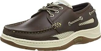 Quayside Sydney Mens Deck Shoe (Walnut, 4)