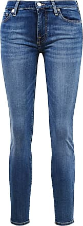 7 For All Mankind Jeans The Skinny Crop Mittelblau