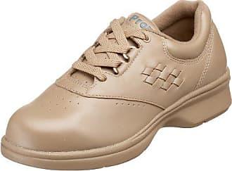 Propét Propet Womens W3910 Vista Walker Comfort Shoe,Taupe Smooth,10 W (US Womens 10 D)