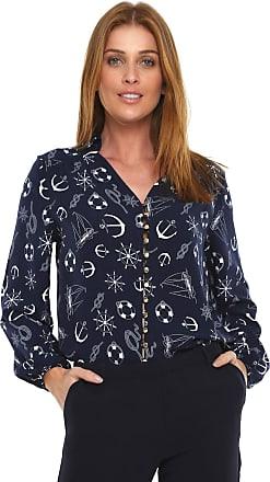 Lez a Lez Camisa Lez a Lez Estampada Azul-marinho