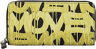 Liebeskind Basic Slg Graffiti Animation - Gigi Wallet Large Womens Wallet, Multicolour (Black/Golden Olive), 2x9.5x19.5 Centimeters (B x H x T)