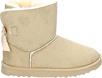 27eef2fc94ec43 King Of Shoes Damen Stiefeletten Schnee Stiefel Boots Flache Schlupfstiefel  Warm Gefüttert Winter Schuhe 783 (