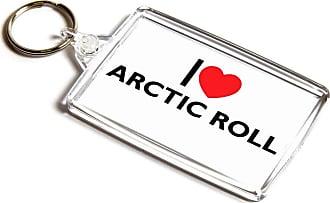 ILoveGifts KEYRING - I Love Arctic Roll - Novelty Food & Drink Gift
