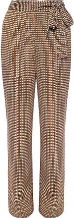 Diane Von Fürstenberg Patterned Trousers Womens Brown