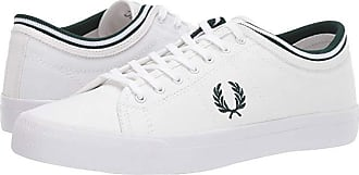 Fred Perry Kendrick Tipped Cuff Canvas (White/Ivy) Mens Shoes