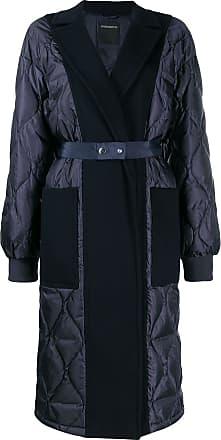 Sportmax felt-panelled puffer coat - Azul
