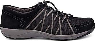 Dansko Womens Honor Sneaker, Black Suede, 7.5-8