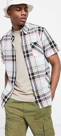 Timberland madras regular short sleeve shirt-Blue