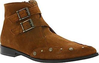 143067daa464 Heine raffinierte Nieten-Stiefelette Stiefel Cowboy-Stiefel Damen Braun,  Größenauswahl 37