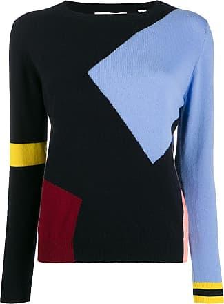 Chinti and Parker Suéter de cashmere color block - Azul