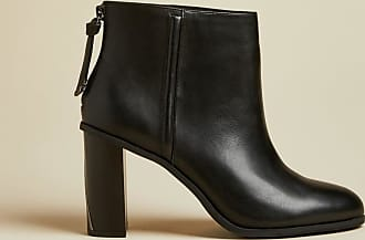 Ted Baker Leather Block Heel Ankle Boots in Black ALIAN, Womens Accessories