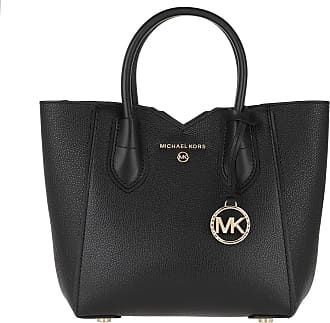 Michael Kors Tote - Mae SM Messenger Shoulder Bag Black - black - Tote for ladies