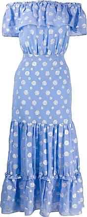 Rixo Vestido Queenie estampado - Azul