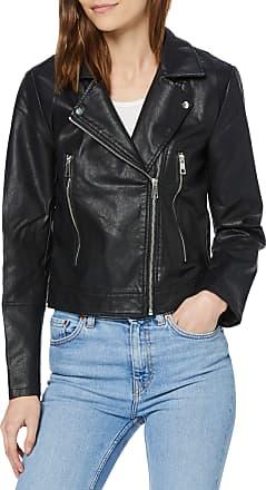 Jacqueline de Yong Womens Jdyilde Short Faux Leather Jacket Noos, Black (Black Black), 14 (Size: 40)