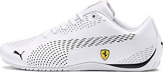 Puma Womens PUMA Ferrari Drift Cat 5 Ultra II Trainers, White/Black, size 10.5, Shoes