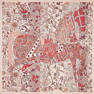 Salvatore Ferragamo Women Prince of Persia print silk scarf Pink